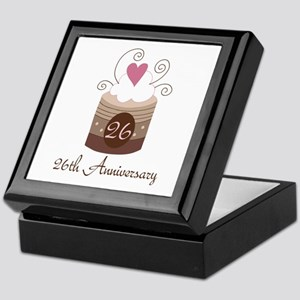 26th Anniversary Cake Keepsake Box