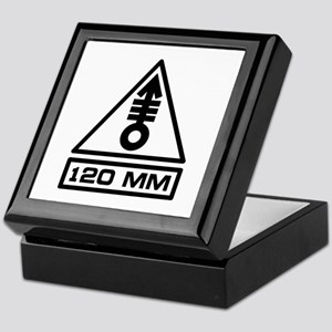 120mm Warning (B) Keepsake Box