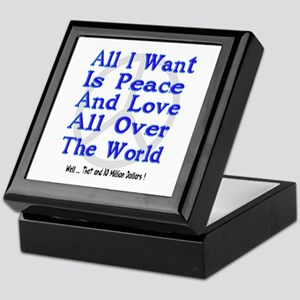 Peace, Love & Money Keepsake Box