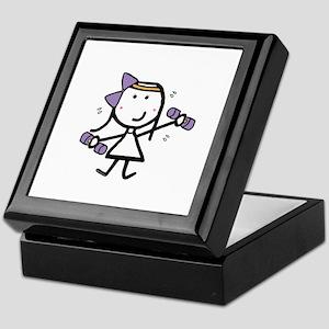 Girl & Exercise Keepsake Box