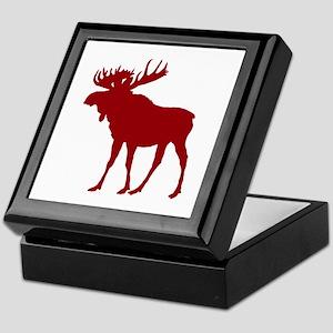 Moose: Rustic Red Keepsake Box