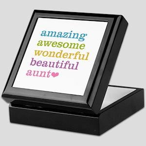 Amazing Aunt Keepsake Box