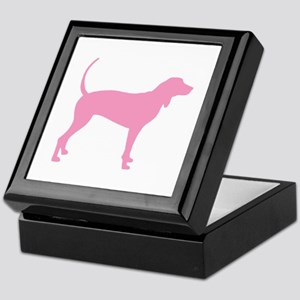 Pink Coonhound Keepsake Box