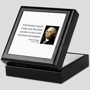 George Washington 3 Keepsake Box