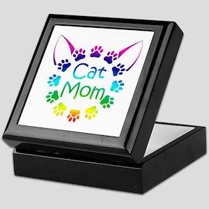 """""""Cat Mom"""" Keepsake Box"""