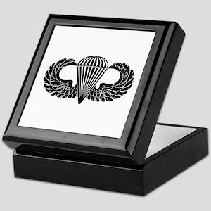 Parachutist -- B-W Keepsake Box