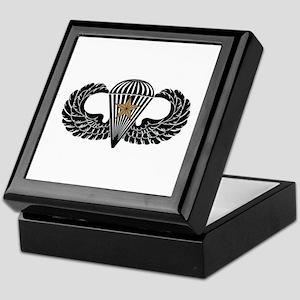Combat Parachutist 1st -- B-W Keepsake Box
