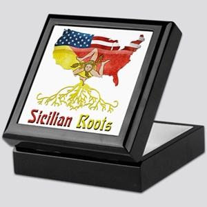 American Sicilian Roots Keepsake Box