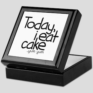 Today I Eat Cake Keepsake Box