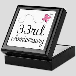 33rd Anniversary Butterfly Keepsake Box