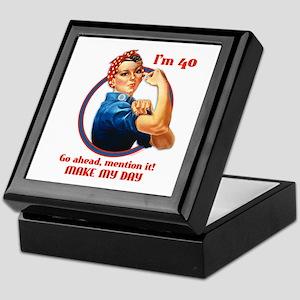Rosie Riveter 40th Birthday Keepsake Box