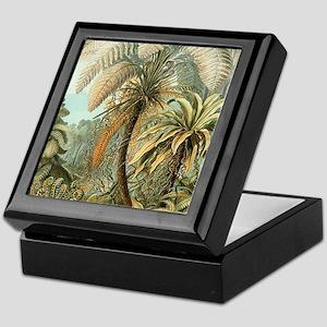 Vintage Tropical Palm Keepsake Box