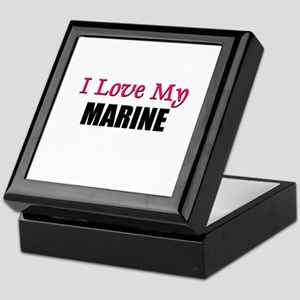 I Love My MARINE Keepsake Box