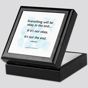 """Okay"" Keepsake Box"