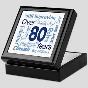 Over 80 years, 80th Birthday Keepsake Box