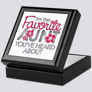 Favorite Aunt Keepsake Box
