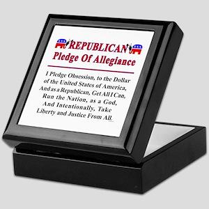 Republican Pledge Keepsake Box