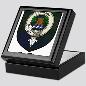 MacEwan Clan Crest Tartan Keepsake Box
