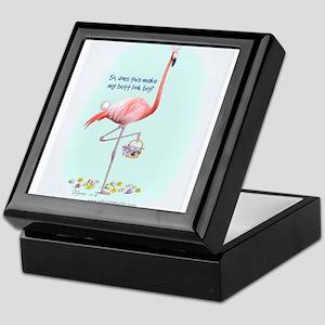 Easter Flamingo Keepsake Box