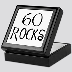 60th birthday saying, 60 rocks! Keepsake Box