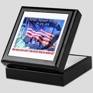9-11 Tribute & Warning Keepsake Box