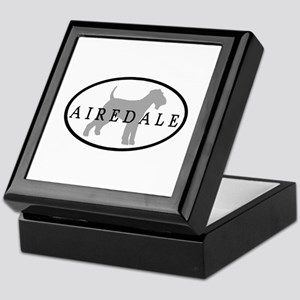 Airedale Terrier Oval #3 Keepsake Box