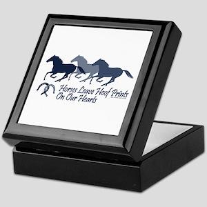 Hoof Prints On Our Hearts Keepsake Box
