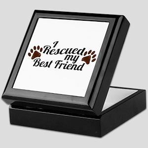 Rescued Dog Best Friend Keepsake Box