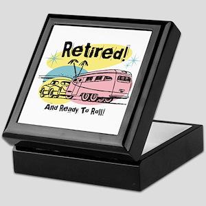 Retro Trailer Retired Keepsake Box