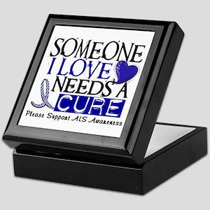 Needs A Cure ALS T-Shirts & Gifts Keepsake Box