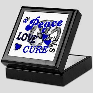 Peace Love Cure ALS 2 Keepsake Box