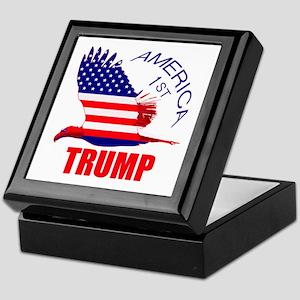 Trump America First Eagle Keepsake Box