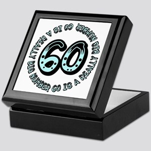 60th birthday, big sixty Keepsake Box