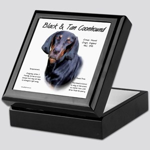 Black and Tan Coonhound Keepsake Box