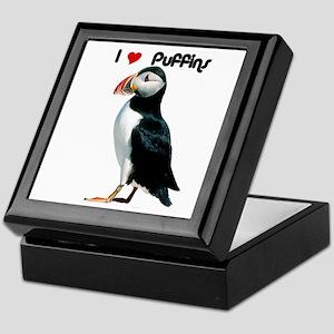 I Luv Puffins Keepsake Box