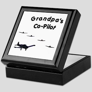 Grandpa's Co-Pilot Keepsake Box