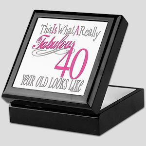 40th Birthday Gifts Keepsake Box