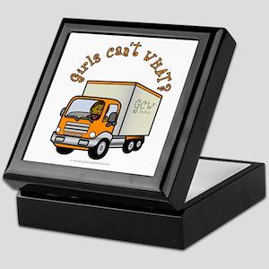 Dark Truck Driver Keepsake Box