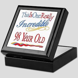 Incredible At 98 Keepsake Box