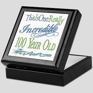 Incredible 100th Keepsake Box