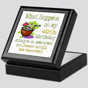 What Happens 40th Keepsake Box