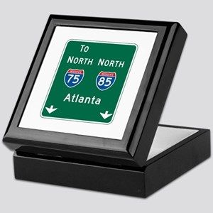 Atlanta, GA Highway Sign Keepsake Box