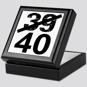 40th Birthday Keepsake Box