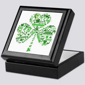 St Paddys Day Shamrock Keepsake Box