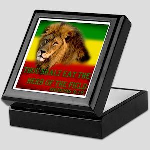 Rastafarian Lion Keepsake Box