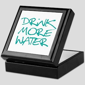 Drink More Water_Blue2 Keepsake Box