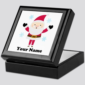 Personalized Santa Snowflake Keepsake Box