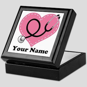 Personalized Nurse Heart Keepsake Box