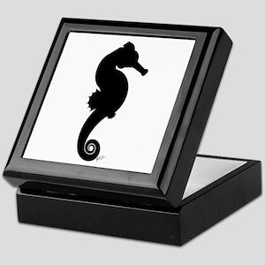 Seahorse (black) Keepsake Box