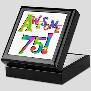 Awesome 75 Birthday Keepsake Box